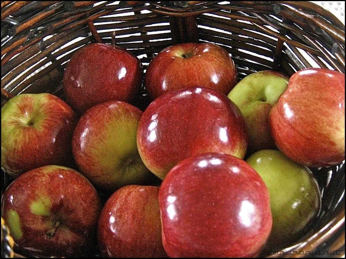 яблоки покрывают воском