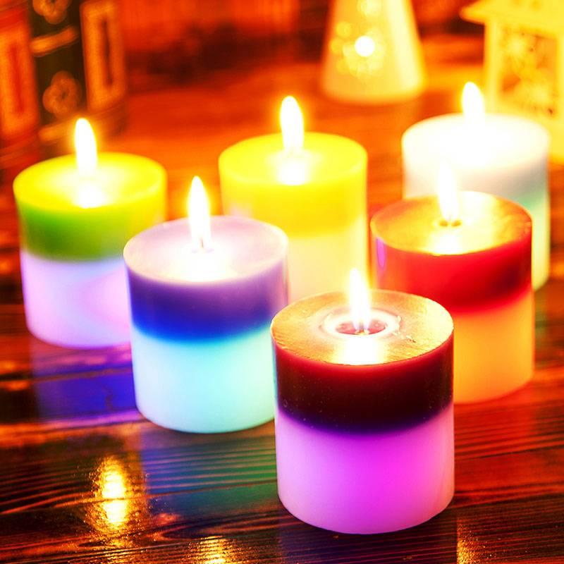 Свечи из воска цветные парафин