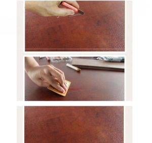 Восковой карандаш для мебели от царапин