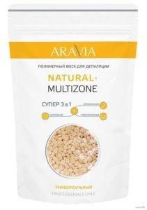 Полимерный воск aravia professional для депиляции NATURAL-MULTIZONE