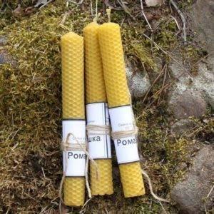 Свечи из вощины с травами