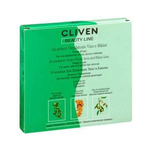 Восковые полоски для лица Cliven