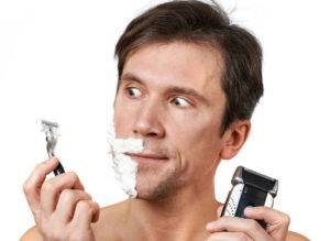 бритье мужчина