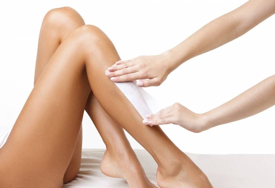 депиляция воском голени