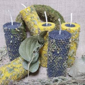 свечи из вощины с травами своими руками