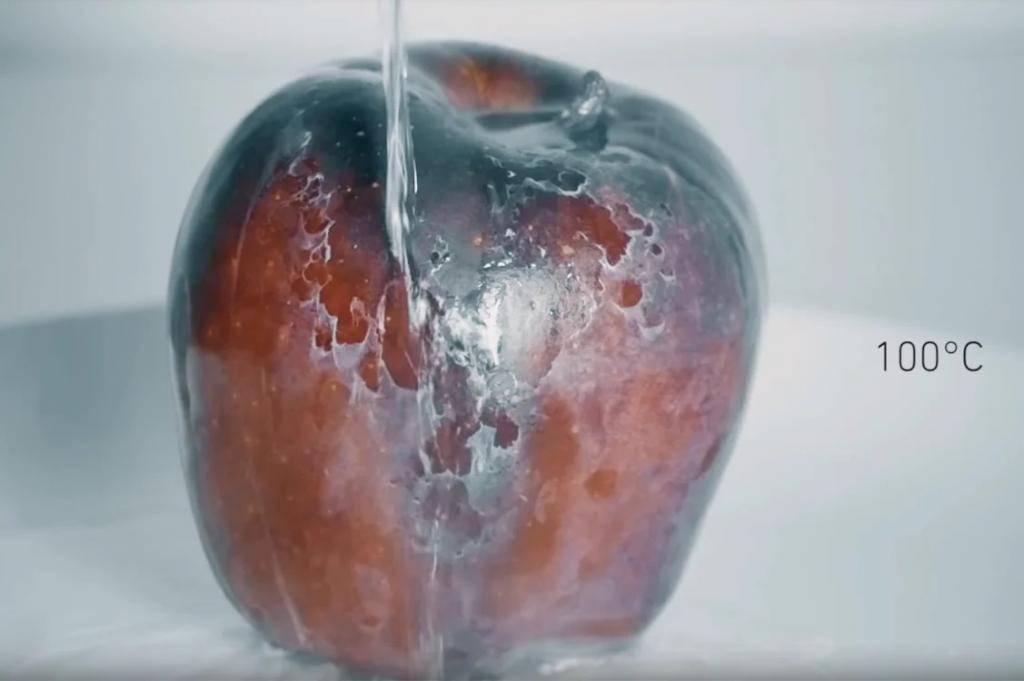 Как убрать парафин с яблок