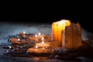 сухая отливка на свече