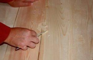 Обработка ламината воском