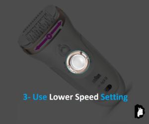 Используйте настройку более низкой скорости на приборе