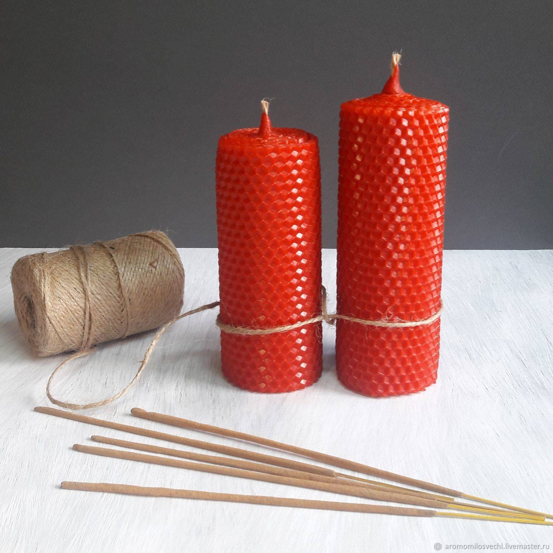 Красная свеча на деньги