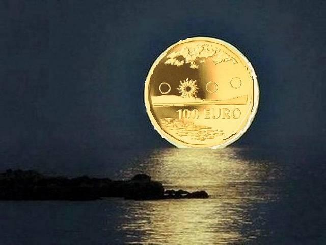 Луна деньги свеча