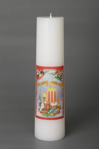 Свеча пасхальная храмовая большая