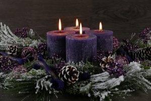 Фиолетовая свеча значение