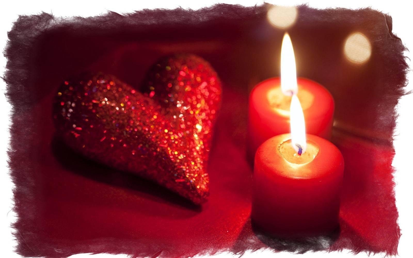 Красная свеча на любовь
