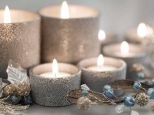 Серебряная свеча фото