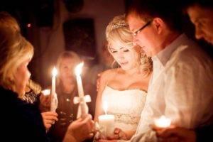 Свечи на свадьбе обряд