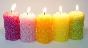 свечи желтые