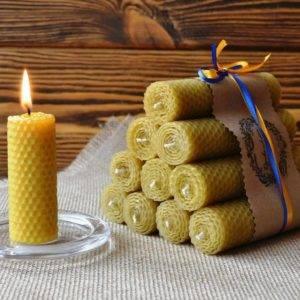 Время горения свечей из вощины