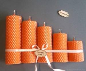оранжевые свечи