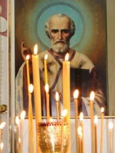 Свечи Николаю чудотворцу