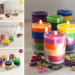 Как сделать свечу из старых свечей